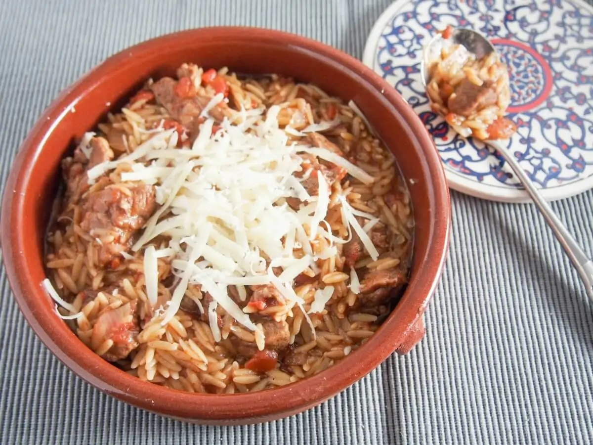 Youvetsi (Greek beef or lamb and orzo stew)